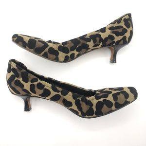 Donald J Pliner Animal Print Kitten Heel Size 9.5